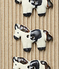 5 White horse buttons