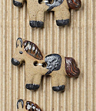 5 Brown horse buttons