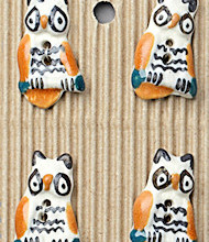 4 Owl buttons