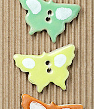 pastel butterfly buttons