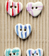5 Assorted striped hearts