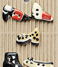 Ladies shoe buttons