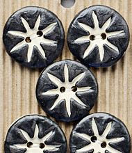 5 Black and white buttons