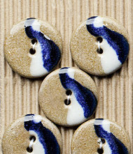 5 Lt Brown, blue and cream buttons