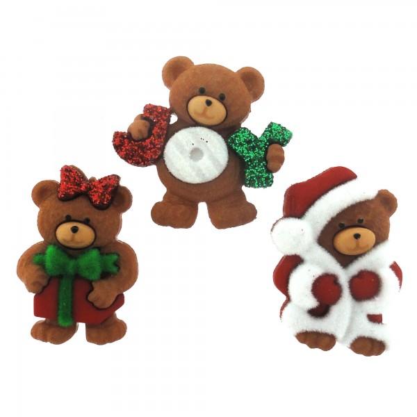 a beary merry christmas - Christmas Buttons