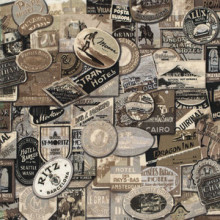 Travel Labels Tim Holtz Fabric