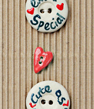 Handmade Extra Special Cute Buttons L457