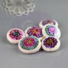Sequin Button Embellishment - Amia
