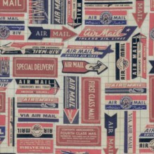 Correspondence Airmail Red