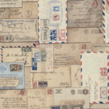 Correspondence Letter Fabric