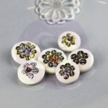 Sequin Button Embellishments 'Divita'