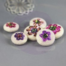 Sequin Button Embellishments 'Hessa'