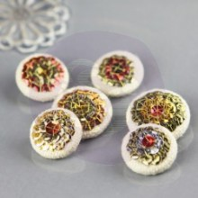 Sequin Covered Buttons Embellishments 'Lalita'