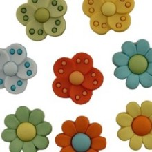 Leaves & Flower Buttons