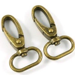 Emmaline Swivel Snap Hook Antique Brass : 3/4""