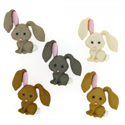 Hop Hop Bunny Buttons