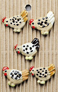 pecking chicken buttons