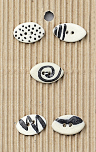 small oval buttons