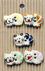 colourful cat buttons