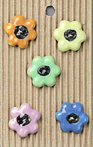 black-eyed daisy buttons